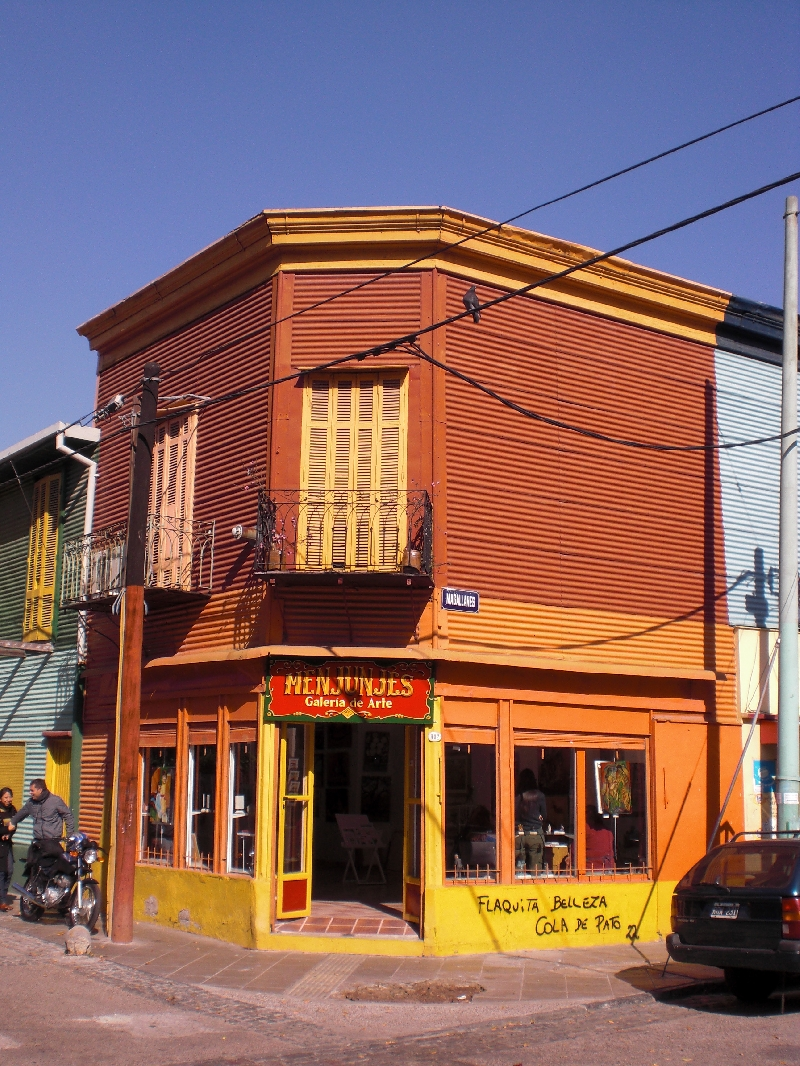 Photo Sights in the La Boca District, Buenos Aires houses