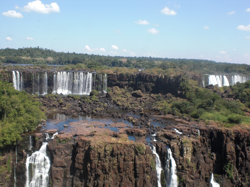 The Waterfalls at Puerto Iguazu Argentina Trip Photos