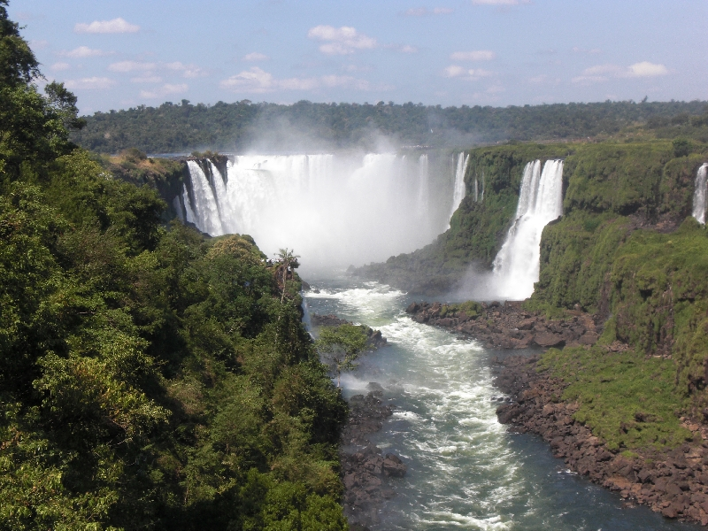 The Waterfalls at Puerto Iguazu Argentina Photos