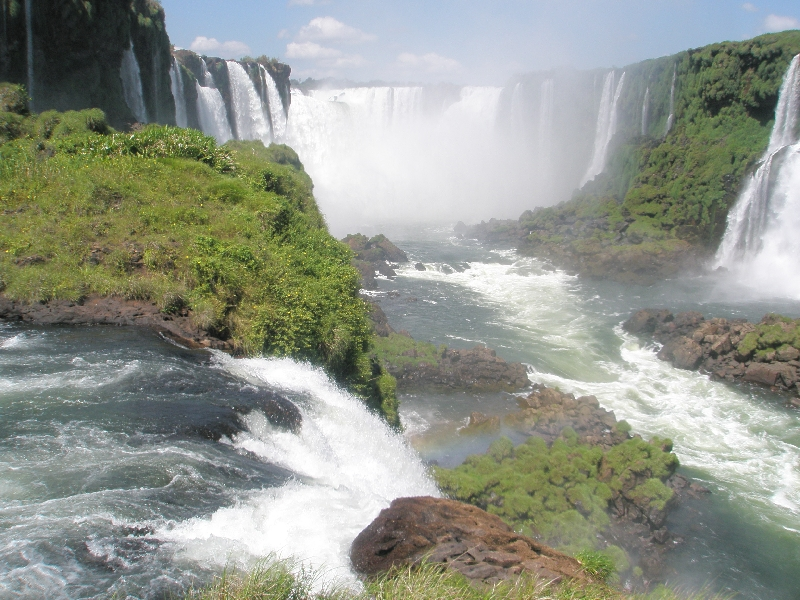 The Waterfalls at Puerto Iguazu Argentina Trip Photo
