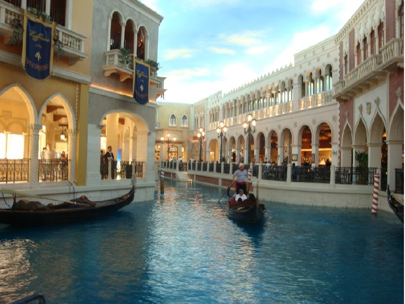 Inside The Venetian in Vegas, United States