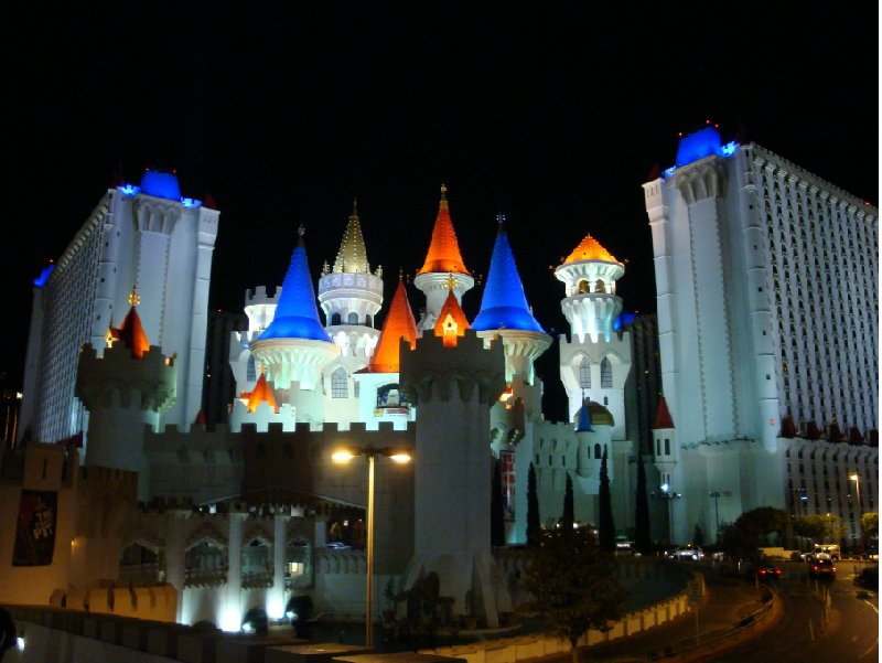 The Excalibur by night, Las Vegas United States