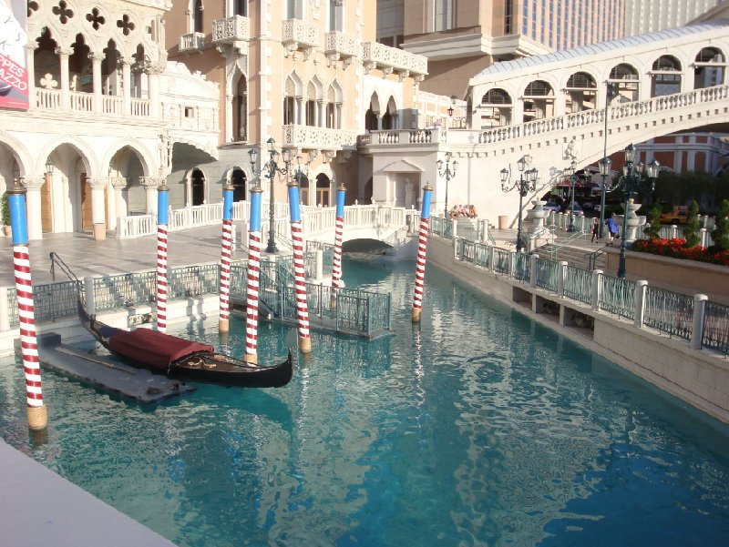 The gondels at The Venetian, Las Vegas United States