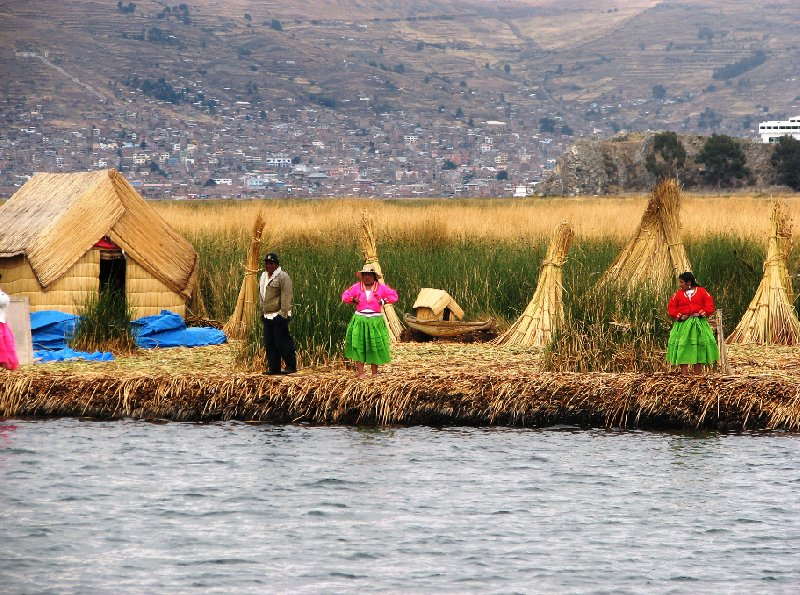 Photo Puno floating islands riksja