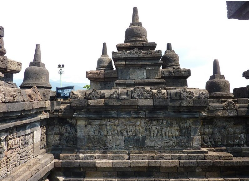 Borobudur buddhist temple Indonesia Review Photograph