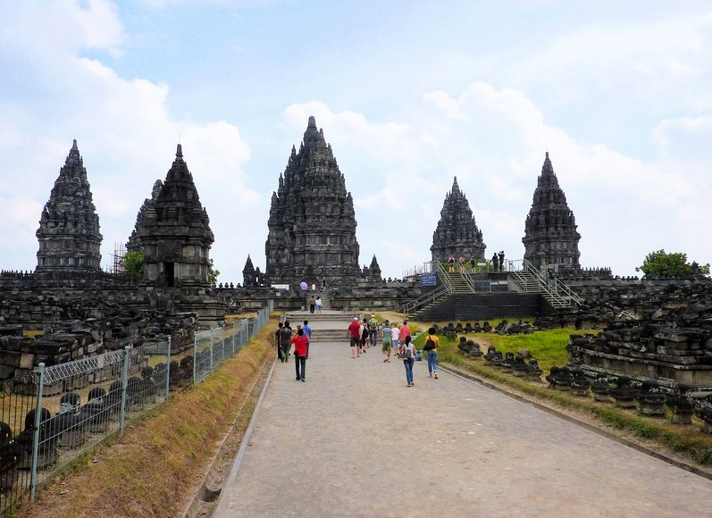 The Prambanan temple complex Indonesia Pictures