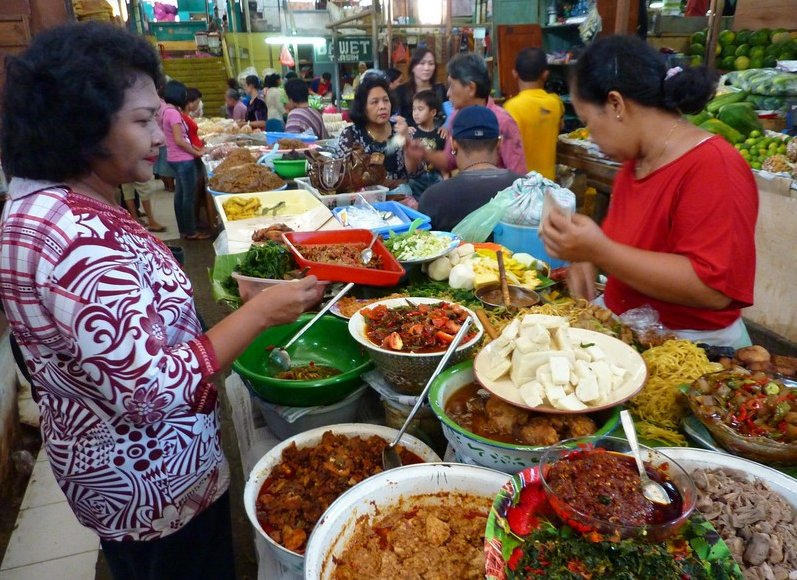 Photo The market in Solo Surakarta started