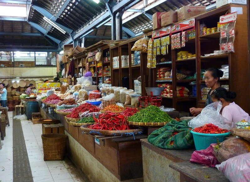 The market in Solo Surakarta Indonesia Review