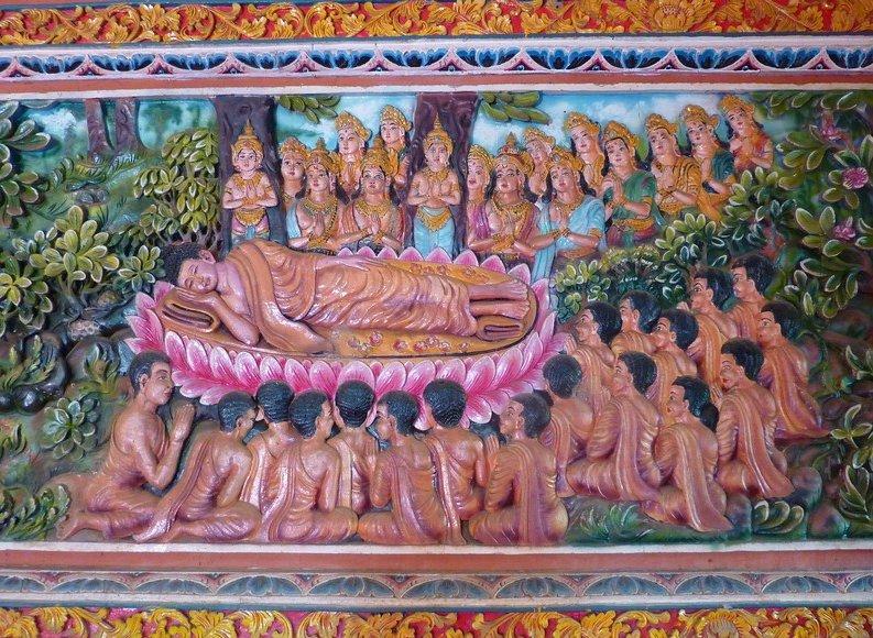 Photo Banjar Buddhist monastery Brahma