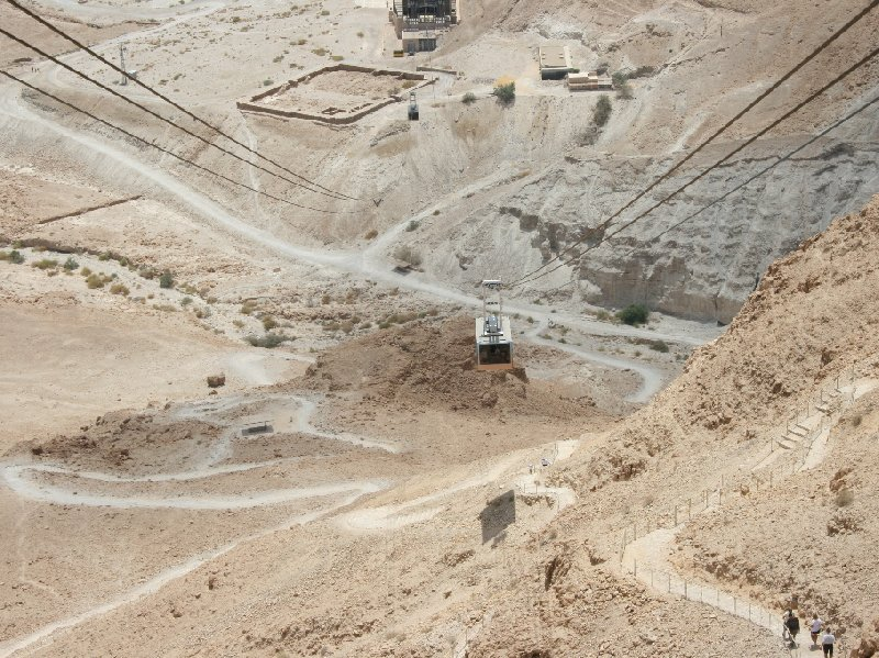 Masada Israel cable car Mezada Diary Information