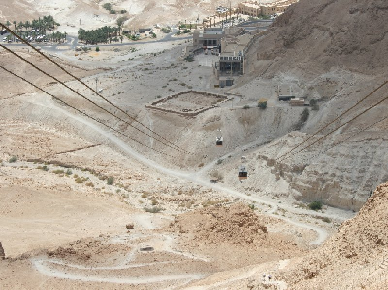 Photo Masada Israel cable car behind