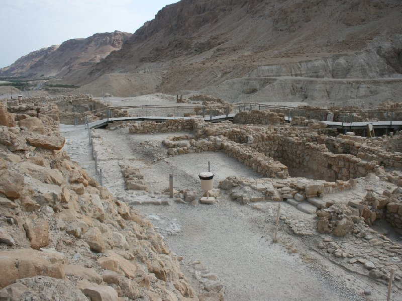 Photo Qumran Caves Israel Masada