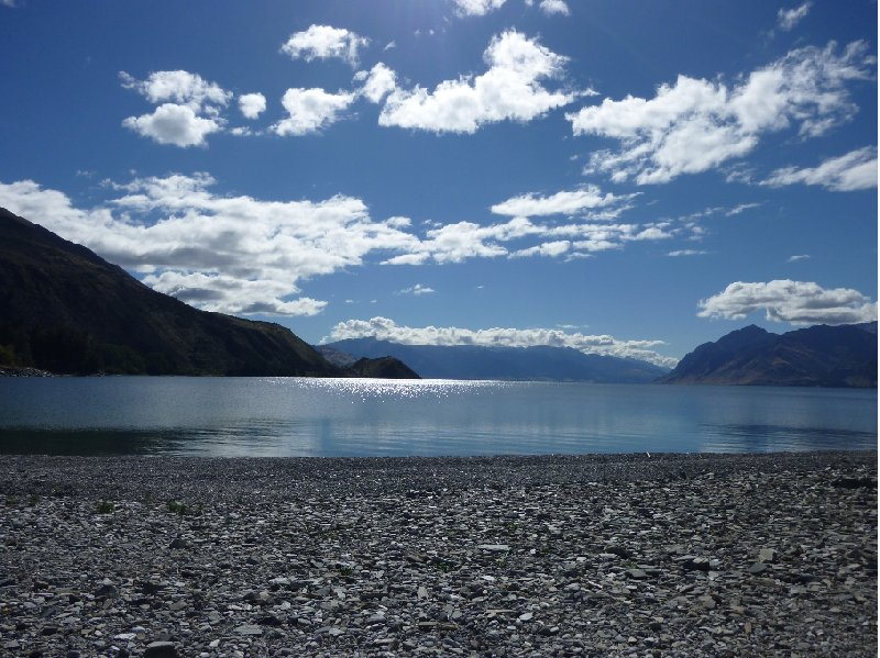 Photo Lake Hawea New Zealand landscapes