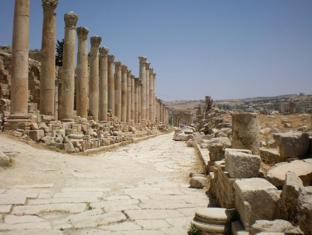 Trip from Damascus to Jerash Jordan Photograph