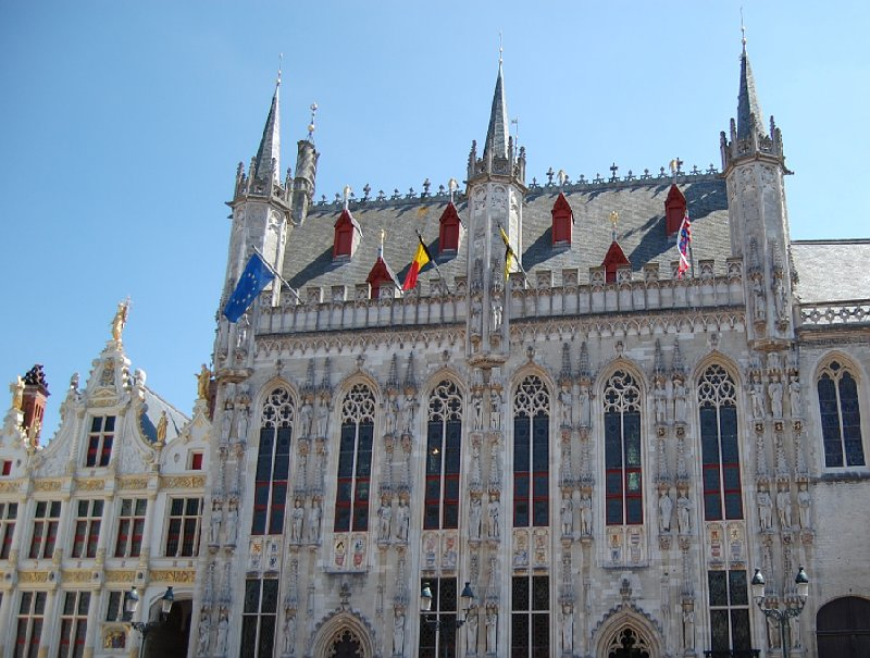 Beautiful hotel in Bruges, Belgium Travel Photographs