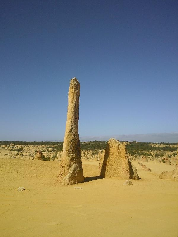 Pinnacle Desert in rental car, Australia Cervantes Diary Photo
