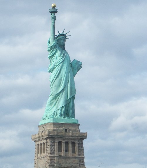 Photo A Tourist Stay in New York City Liberty