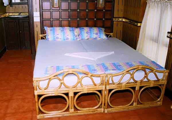 Houseboat bed room style, typically created for friendly backwater travellers with best budget, India