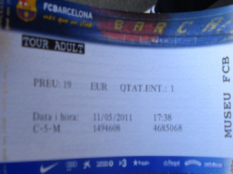 FC Barcelona Tour 2011 Tickets Spain Review Gallery