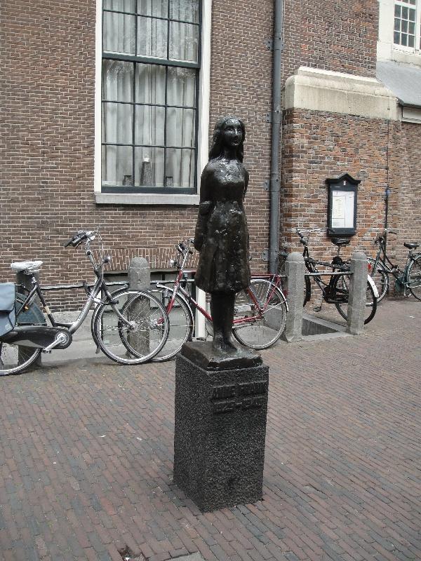 Amsterdam Netherlands Anna Frank's statue