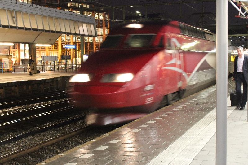 Photo Thalys Train Brussels to Paris