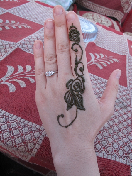 Dubai United Arab Emirates Henna painting with -