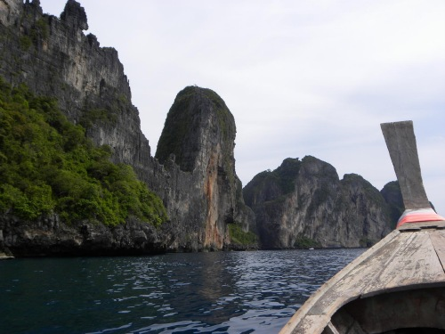 Boat ride around Phi Phi Ko Phi Phi Don Thailand Review Photograph