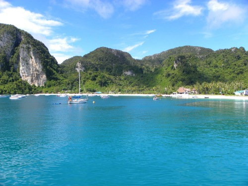 Boat ride around Phi Phi Ko Phi Phi Don Thailand Holiday