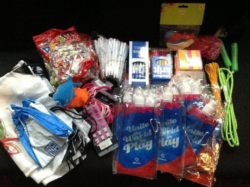 Toys and stationary for the children of Tanzana, Tanzania