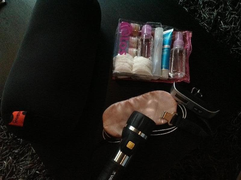 Flashlight,back pillow, mobile scale and toiletries, Tanzania