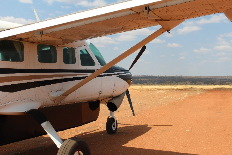 Arriving at the Kuro Airstrip in Tarangire NP, Tanzania