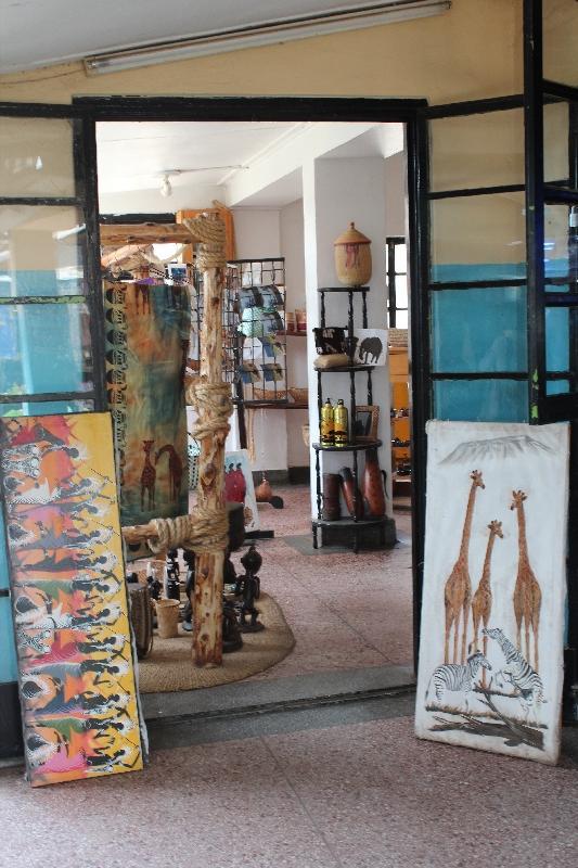 Souvenirs at Arusha Airport, Tanzania
