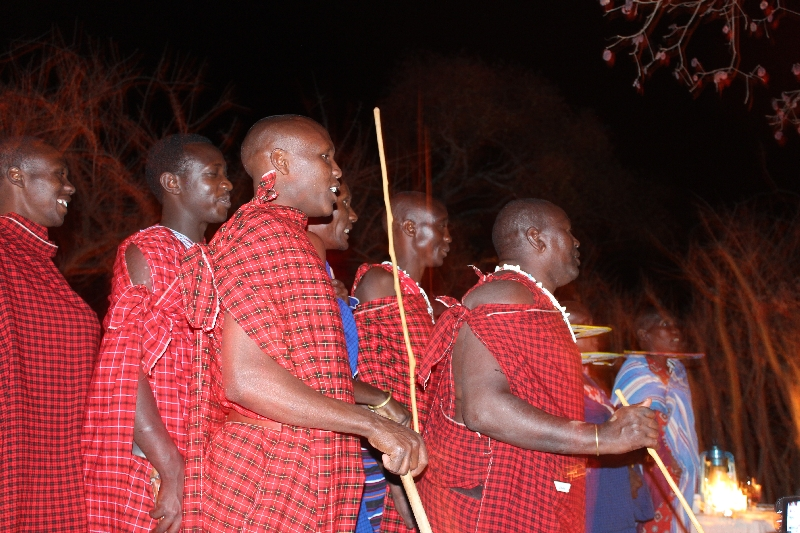 Masai Show at dinner Treetops, Tanzania