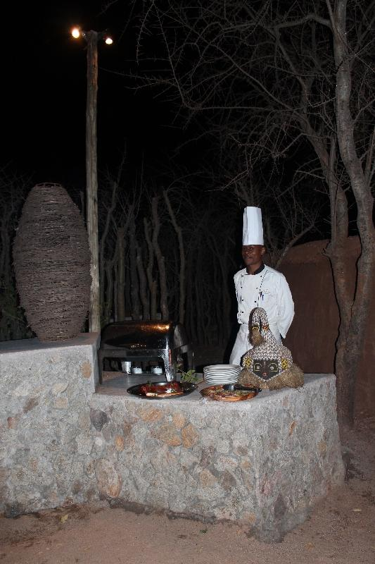Great Team at Treetops Boma Dinner, Manyara Tanzania