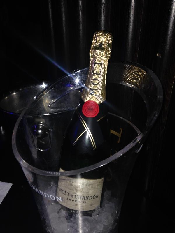 Moet Champagne at Little Buddha, Amsterdam Netherlands