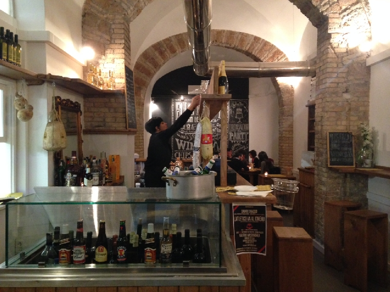 Great Bar in San Lorenzo Rome, Italy