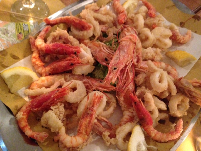 Rome Italy Fried Sicilian Prawns and Calamari