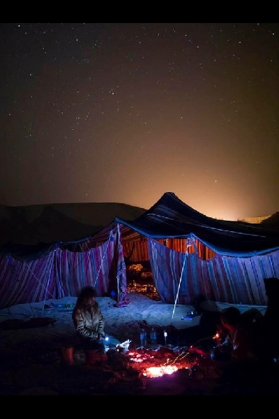 Our tent under the stars, Morocco