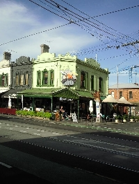 Fitzroy street buildings in Melbourne