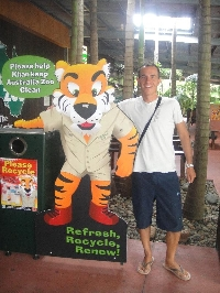 The Tazzie Tiger at Australia ZOO