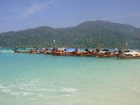 Taxi boats in Ko Lipe