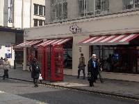 Telephone booth in central London