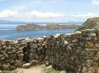 Ancient Inca Ruins on Isla del Sol