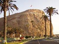 Road to Morro de Arica, Chili