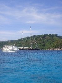 Happy travellers on the Similan Islands