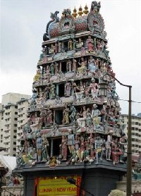 Shri Mariamman Temple in Singapore City
