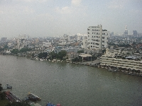 River view from Bangkok hotel