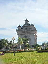 Pictures of the Patuxay Monument