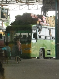 The bus at the station in Vientiane