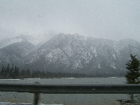 Driving through Banff National Park